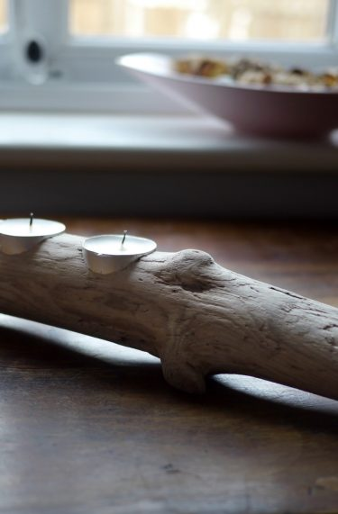 Driftwood Tealight candle holder