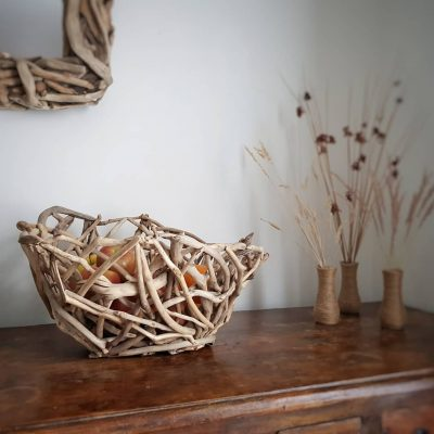 Driftwood Fruit Bowl Side View